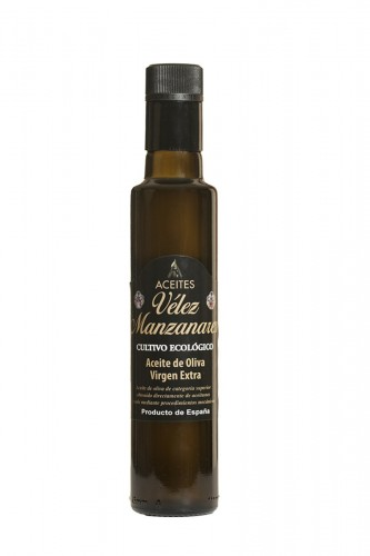 250ml Aceite de Oliva Virgen Extra Vélez Manzanares Cristal Dórica  - Cultivo Ecológico
